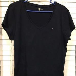 🛍Tommy Hilfiger Blue V Neck T-shirt Sz XL